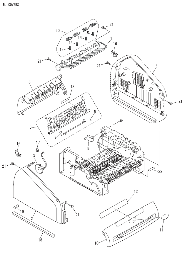 Brother Intellifax 2820 Parts List And Diagrams